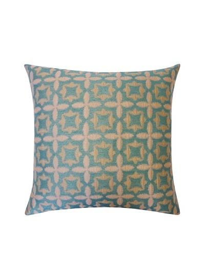 Motif Throw Pillow, Aqua