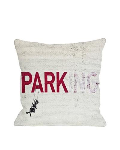 Banksy Parking Pillow