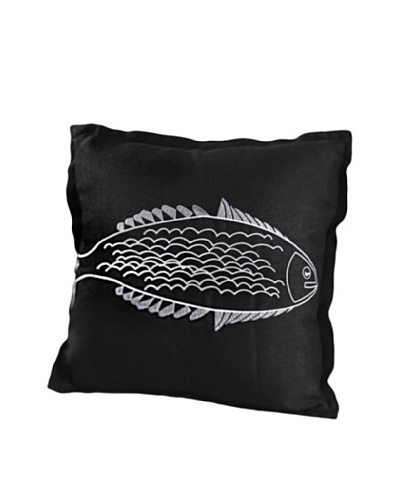 Single Fish Design Throw Pillow