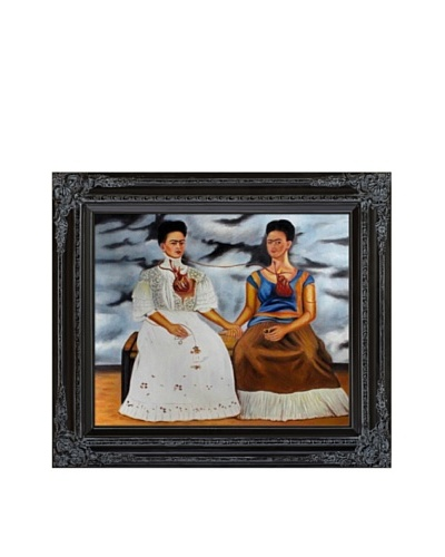 "Frida Kahlo's ""The Two Fridas"" Framed Reproduction Oil Painting"