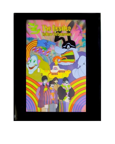 The Beatles Yellow Submarine Framed 3-D Hologram Poster