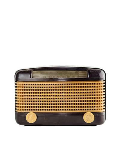 Vintage Farnsworth Radio, Black/Beige