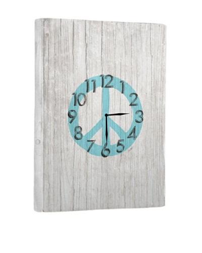 Peace Symbol Reclaimed Wood Clock