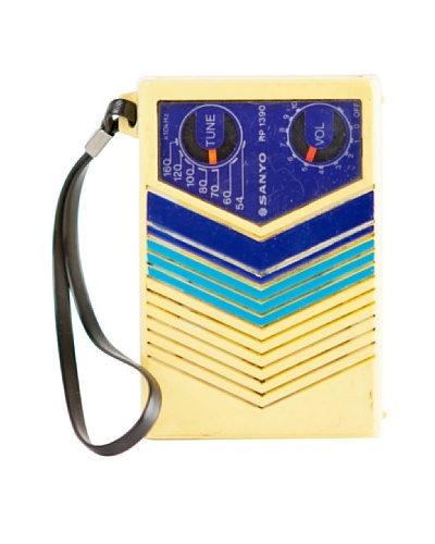 Vintage Sanyo Radio, Yellow/Blue
