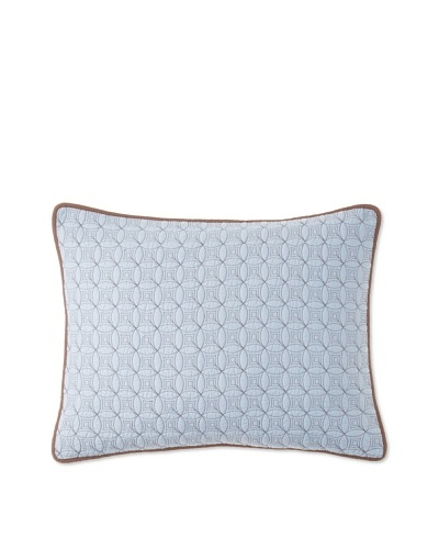 Circle Ring Pillow Sham [Blue/Brown]