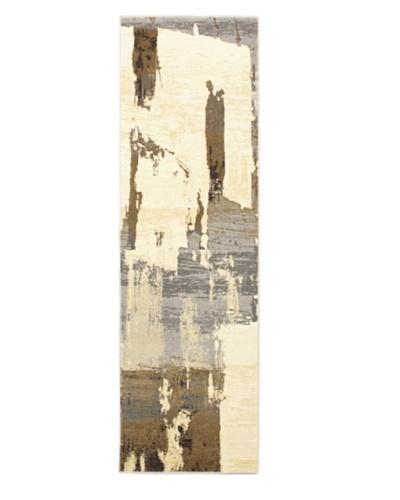 Grunge Modern Rug, Grey, 2' 4 x 7' 9 Runner