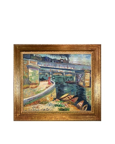 Vincent Van Gogh Bridges Across the Seine at Asnieres Framed Oil Painting