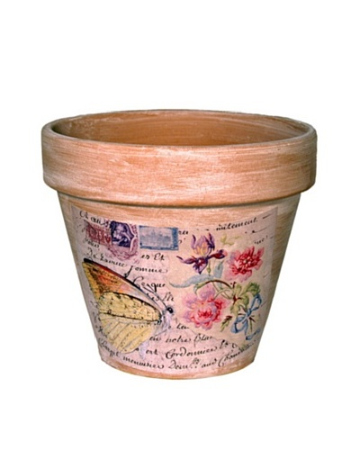 Butterfly Label Pot [Terra Cotta]
