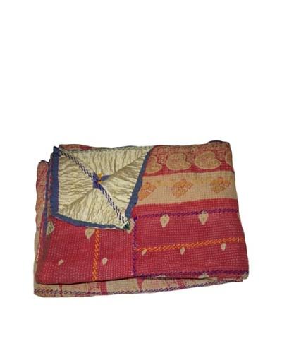 """Vintage Pushpa Kantha Throw, Multi, 60"""" x 90"""""""