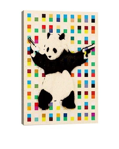 Banksy Panda with Guns Bright Dots