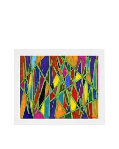 Manuel Roman Bamboo Jungle Framed Art, Multi