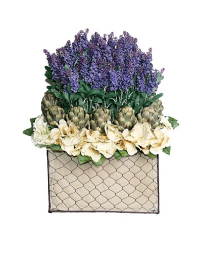 Lavender Artichoke Basket [Purple/Green/Creme]