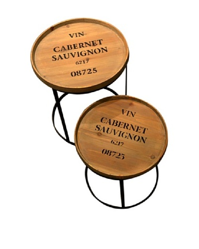 Set of 2 Iron Accent Tables