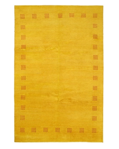 Hand-Knotted Gabbeh Modern Rug, Yellow, 7' 1 x 12'