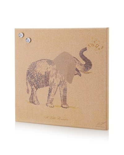 Dom Vari Inspirational Elephant  Giclee on Cork Board