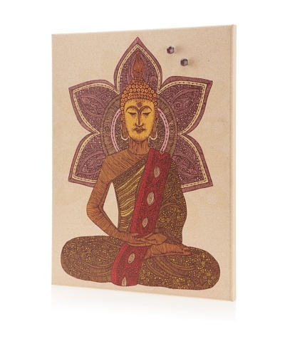 "Valentina Ramos ""Buddha"" Giclee on Cork Board"