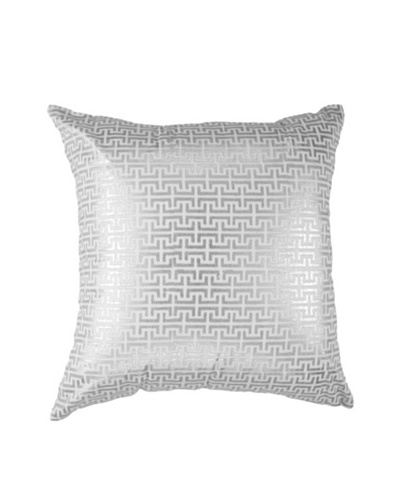 Screen Pillow, Silver/White, 18 x 18