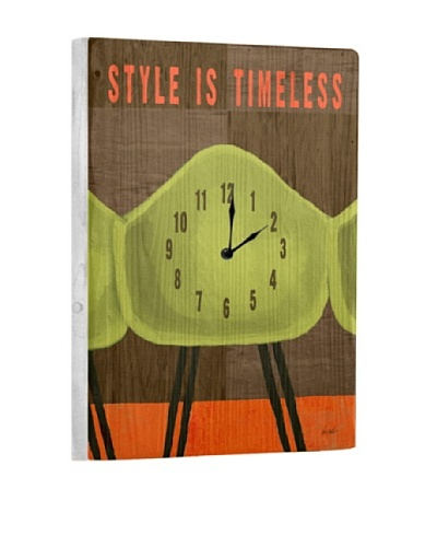 Style Is Timeless Reclaimed Wood Clock