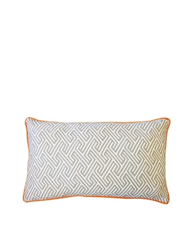 Inca Passage Throw Pillow, Grey/Orange