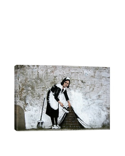 Banksy Maid in London Canvas Print