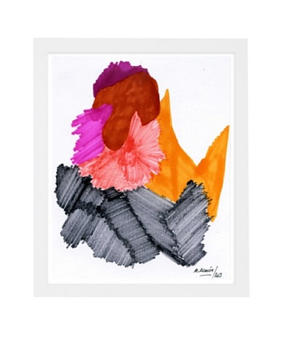 "Manuel Roman ""Passion Flare"" Framed Art, Multi"