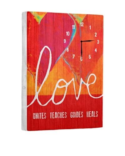 Love Unites Teachers Guides Heals Reclaimed Wood Clock