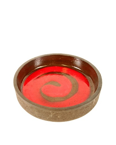 Mid-Century Modern Bowl By Lehmann, Brown/Red