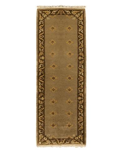Hand-Knotted Karma Wool Rug, Brown, 2' 5 x 7' 6 Runner