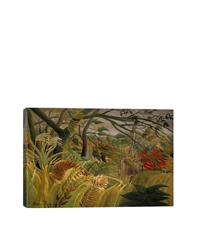 Tiger in a Tropical Storm (Surprised) 1891 by Henri Rousseau Giclée on Canvas