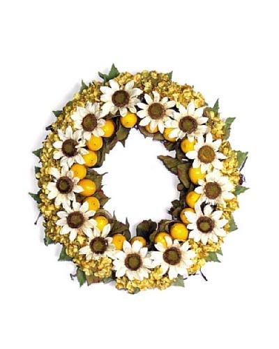 Sunflower Wreath [White/Yellow/Green]