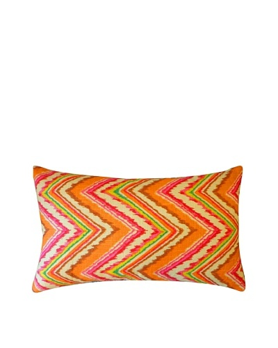 Ice Throw Pillow, Pink/Orange