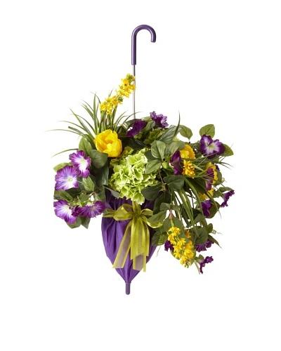 Purple Umbrella Floral
