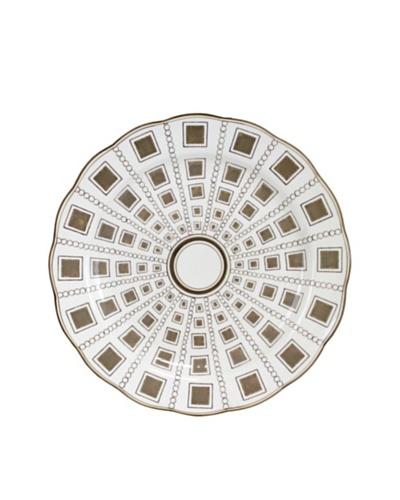 Rhonda Plate, White/Brown