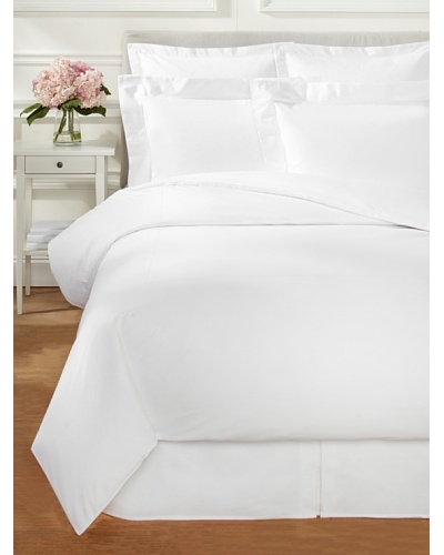Percale Duvet Set, White, King