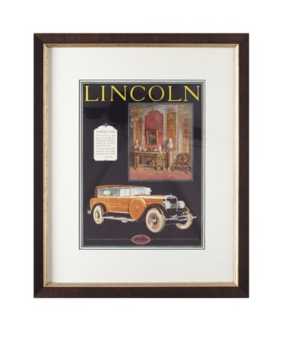 Original French Lincoln Advertisement, 1926