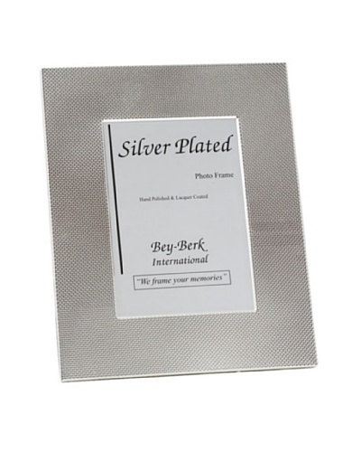 """Silver-Plated Picture Frame with Easel Back, 4""""x6"""""""