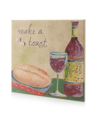 Lori Seibert Make a Toast Giclee on Cork Board