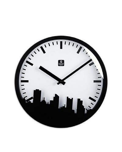 City View Metal Wall Clock, 12