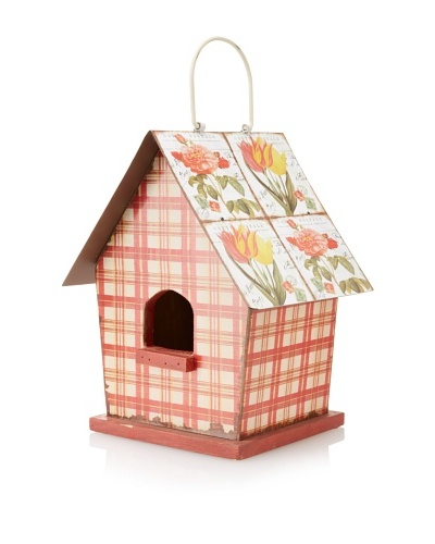 Hanging Birdhouse, Red Multi