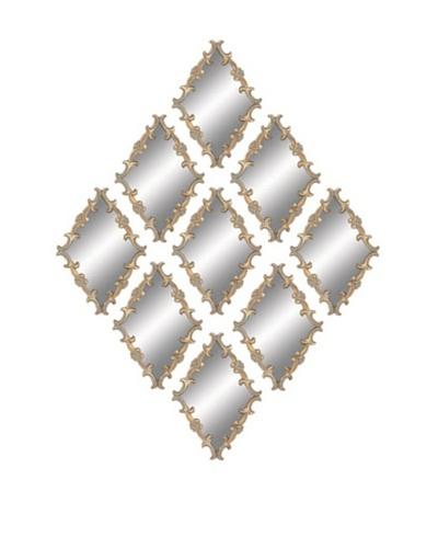 UMA Metal Wall Mirrors, Set of 9As You See