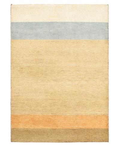 Hand-Knotted Gabbeh Modern Rug, Khaki, 4' 8 x 6' 7