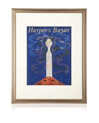 Original Harper's Bazaar cover dated 1923. by Erte. 16X20 framed