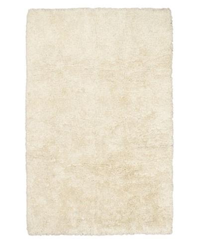 "Hand-Knotted Casablanca Retro Shag Rug, White, 6' 7"" x 9' 10"""