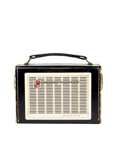 Vintage General Electric Radio, Black/Cream