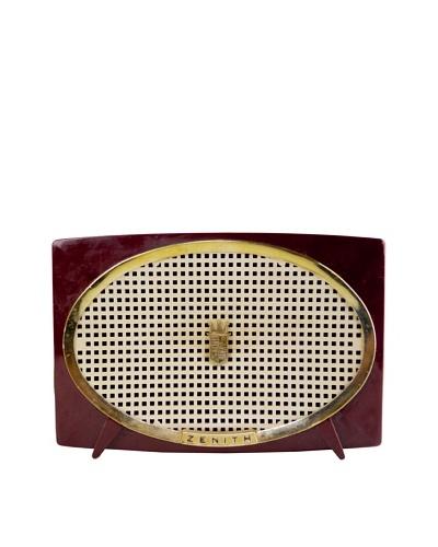 Vintage Zenith Radio, Burgundy