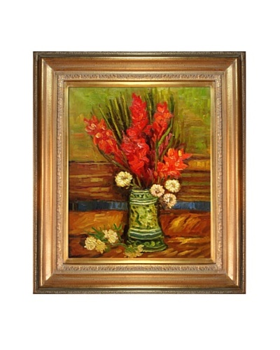 Vincent Van Gogh Vase with Red Gladioli Framed Oil Painting