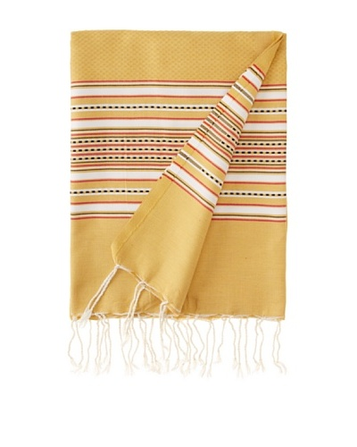 Aztec Fouta Towel, Mustard, 39 x 79