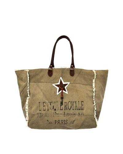Winnie Weekender Bag, Natural/Brown/White/Blue