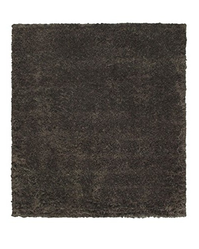"Hand-Knotted Casablanca Retro Shag, Black/Brown/Gray, 8' 2"" x 9' 10"""