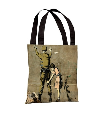 Banksy Girl with Soldier Tote Bag